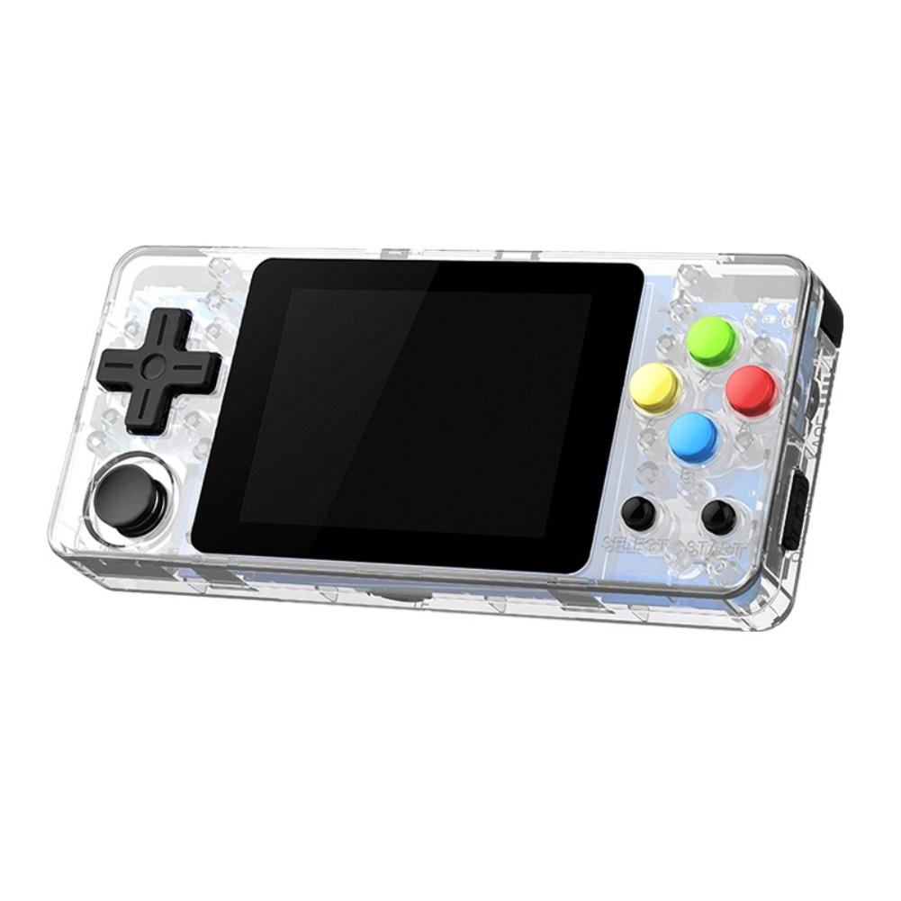Mini RETRO GAME Rocker Nostalgia Palm Game Machine FC Transparent white