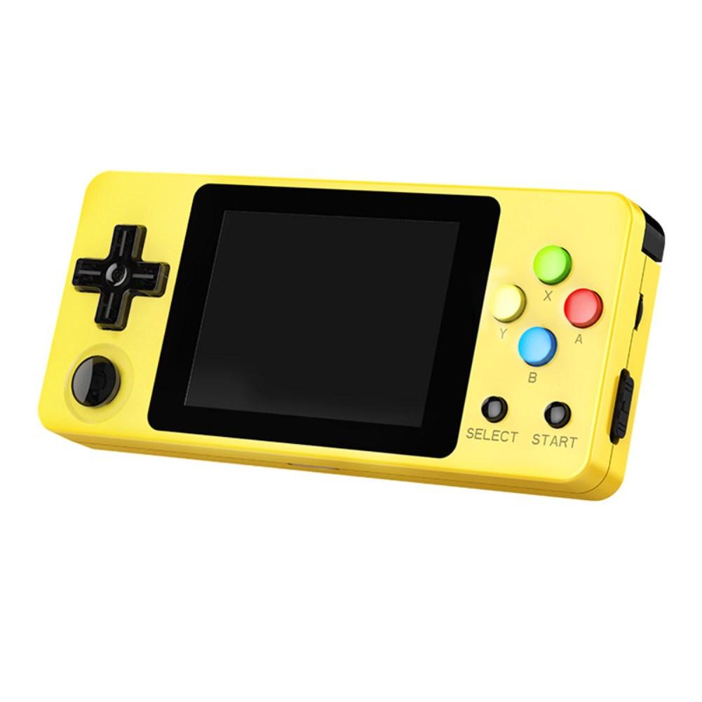 Mini RETRO GAME Rocker Nostalgia Palm Game Machine FC yellow
