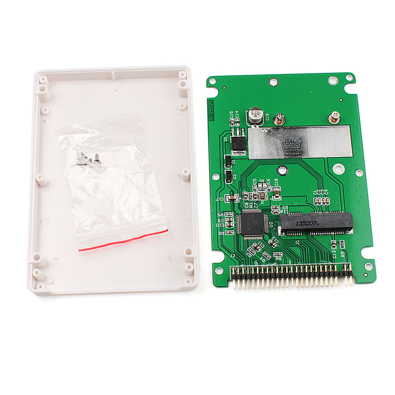 Mini SATA mSATA SSD to 44pin IDE Adapter with Case As 2.5