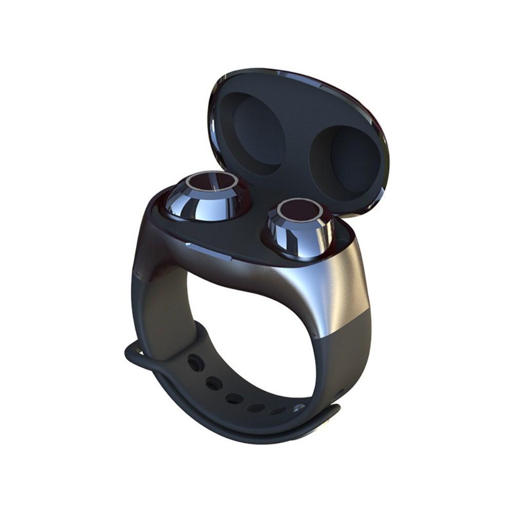HM50 Wrist Wireless Sports Binaural Handsfree TWS Bluetooth Earphone black