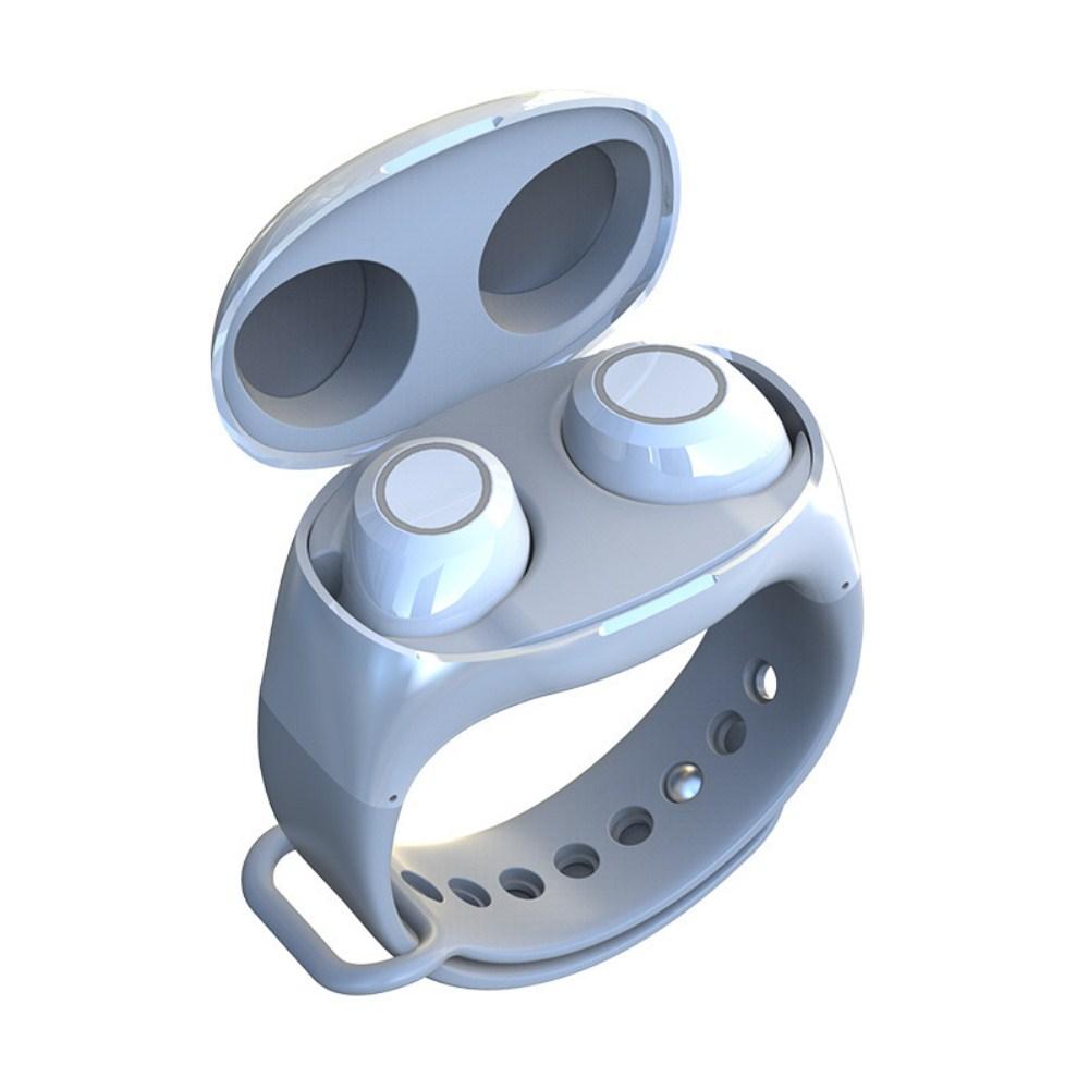 HM50 Wrist Wireless Sports Binaural Handsfree TWS Bluetooth Earphone white