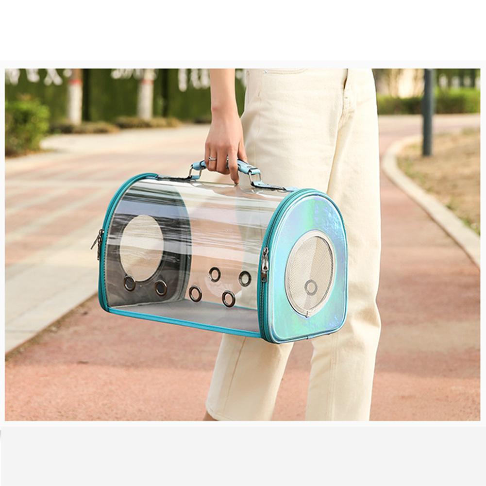 Fashion Space Capsule Pet Handbag Cat Box Transparent Bag Cage for Outdoor blue_small