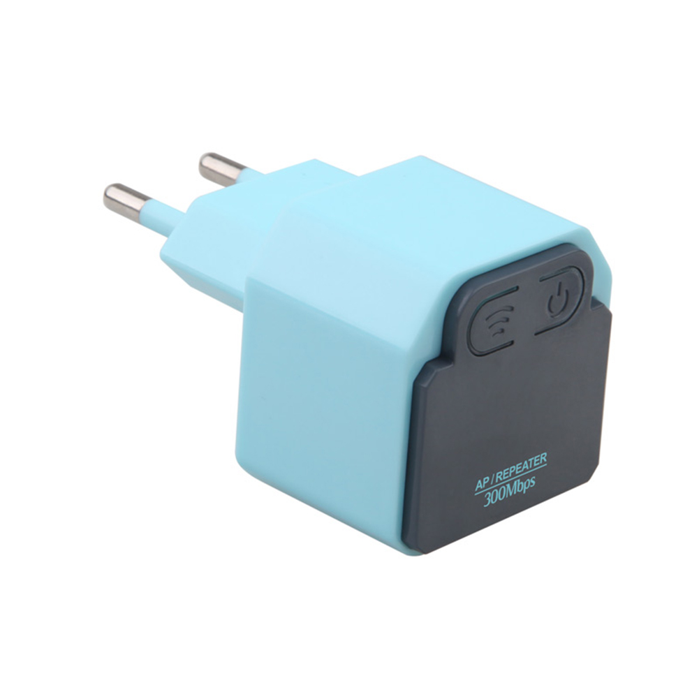 300Mbps WIFI Extender Mini Wireless Repeater AP Router Wall Plug Wi-Fi Signal Amplifier Range Extender Booster European Regulations Blue European regulations blue