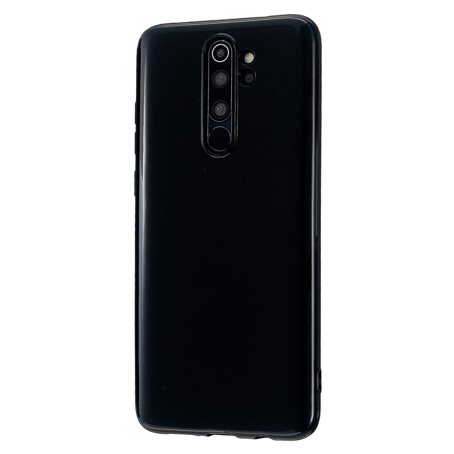 For Redmi Note 8/8 Pro Cellphone Cover Reinforced Soft TPU Phone Case Anti-scratch Full Body Protection Bright black