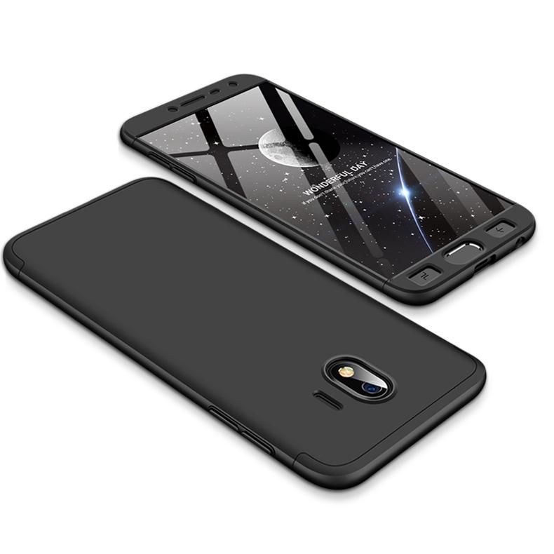 For Samsung J4 2018 Ultra Slim 360 Degree Non-slip Shockproof Full Protective Case black