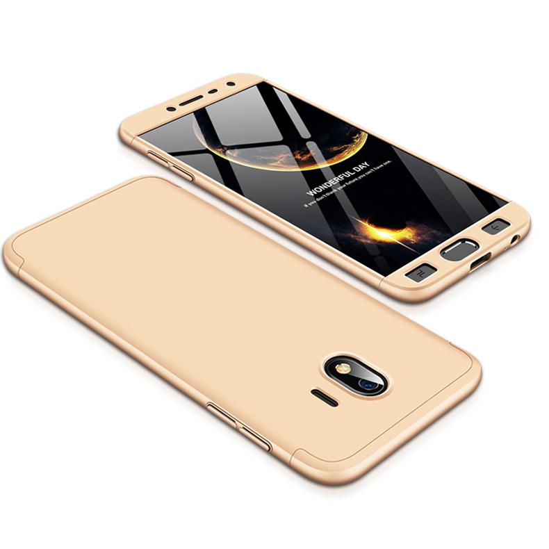 For Samsung J4 2018 Ultra Slim 360 Degree Non-slip Shockproof Full Protective Case Gold