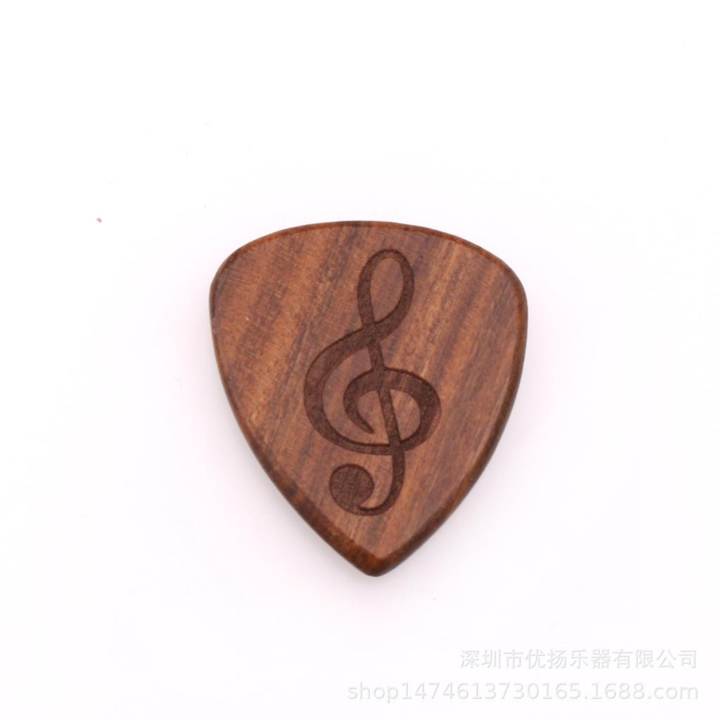 Guitar Picks Plectrum Solid Wood Fingerpicks Musical Instrument Accessories Musical symbol