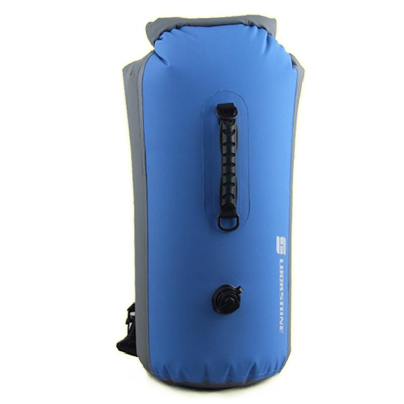 60L Outdoor Backpack Waterproof Bag Rafting Upstream Inflatable Swimming Bag Pvc Waterproof Bag Bucket Bag blue_60L