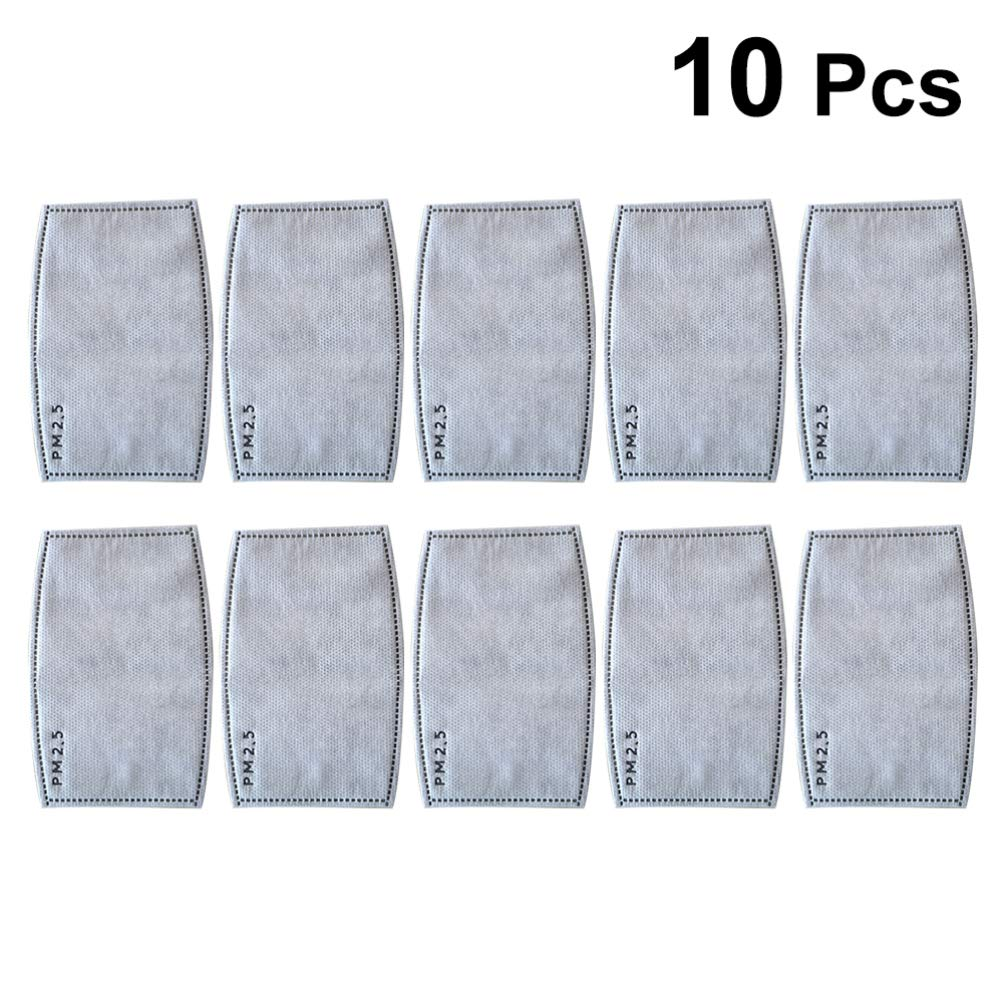 10/20/50/100pcs Universal PM2.5 6 Layer Activated Carbon Filter Mat for Mask 10PCS