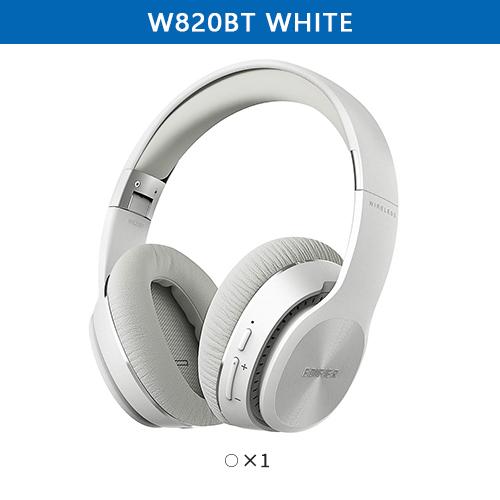 EDIFIER W820BT Bluetooth Headphones CSR Technology Foldable Wireless Earphone Dual Batteries 80 Hours Playback white