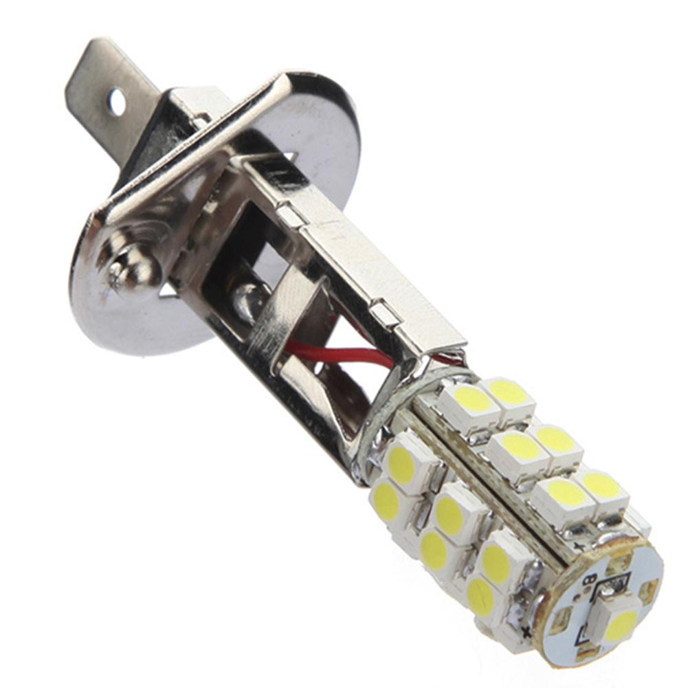 1 Pair Car Led Fog Lamp H1 25smd Modified Front Anti-fog Lamp Dc12v White Light White light