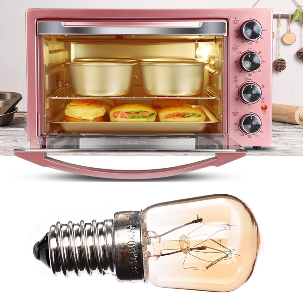 220V E14 LED Bulb 15W Microwave Oven Tungsten Filament Lamp Bulb Yellow Light yellow light