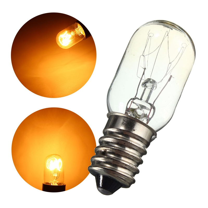 E14 15W Refrigerator Light Bulb LED Tungsten Filament Lamp Bulbs Yellow Light