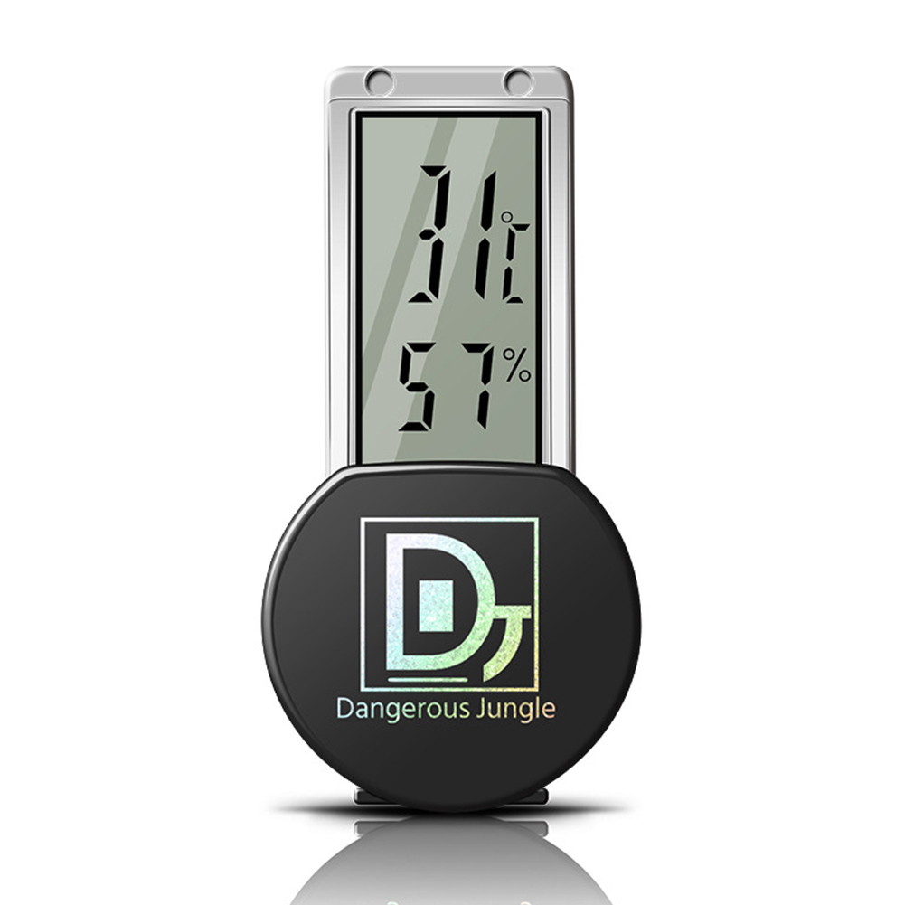 Electronic Sucked Type Hygrometer for Reptiles Chameleon Lizard black