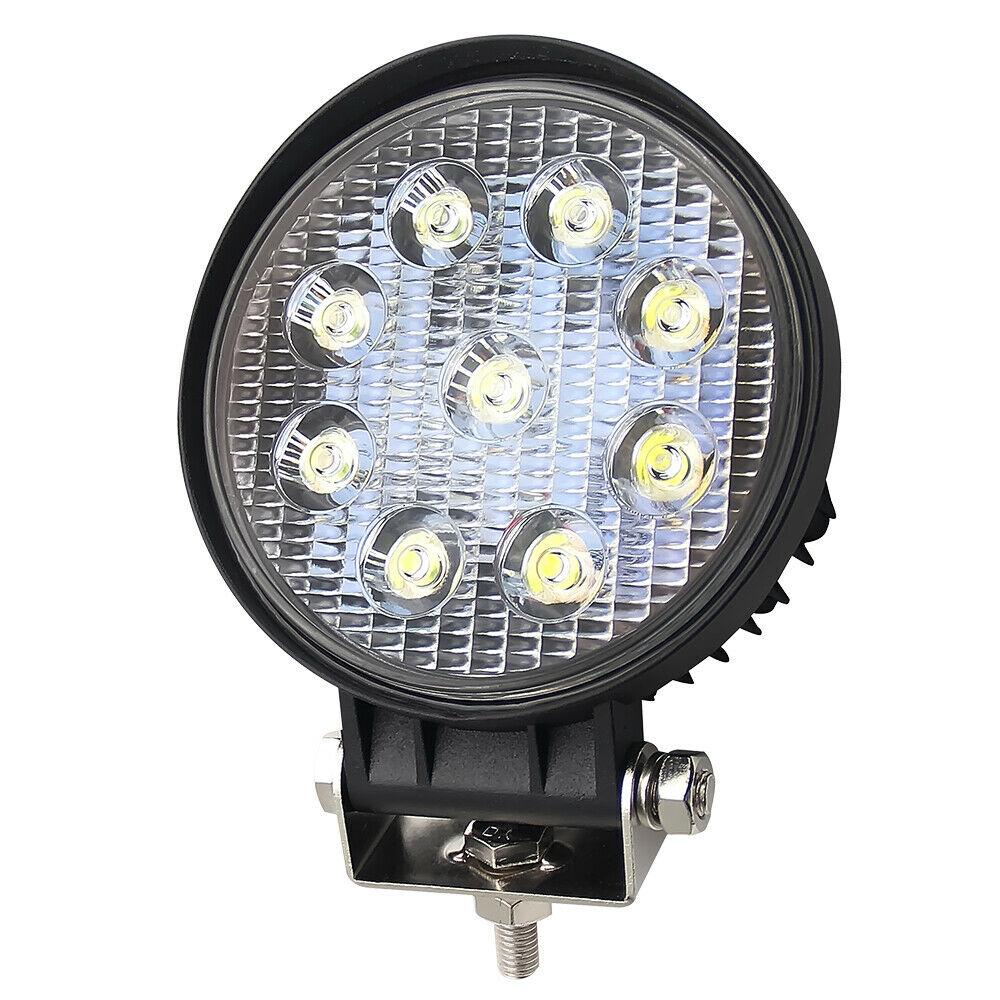 5 Inch 27W Round LED Work Light Bar Spot Flood Offroad Driving Fog Lamp 12V 24V As shown