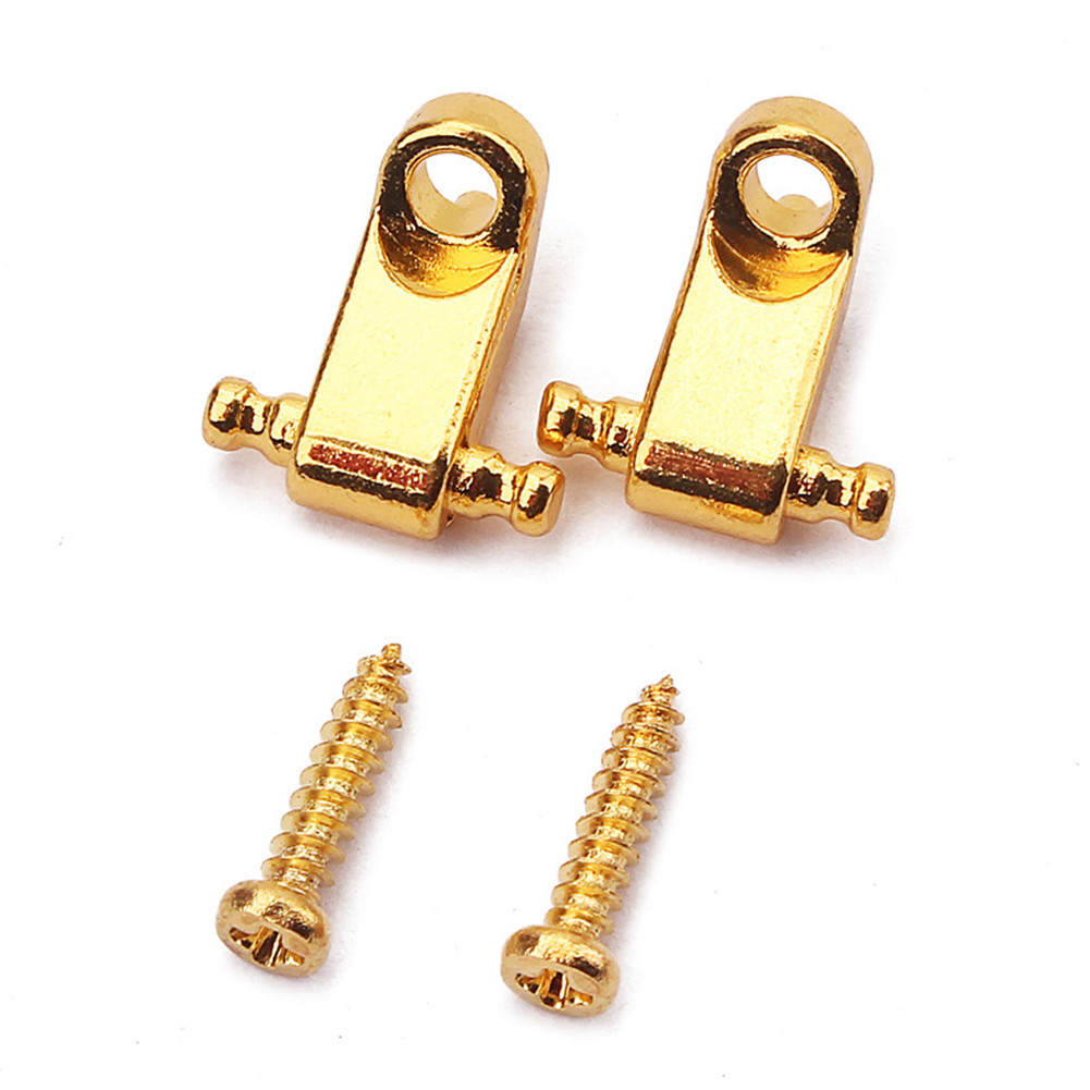 2pcs/set Roller Style String Retainers Tree for Electric Guitar Gold