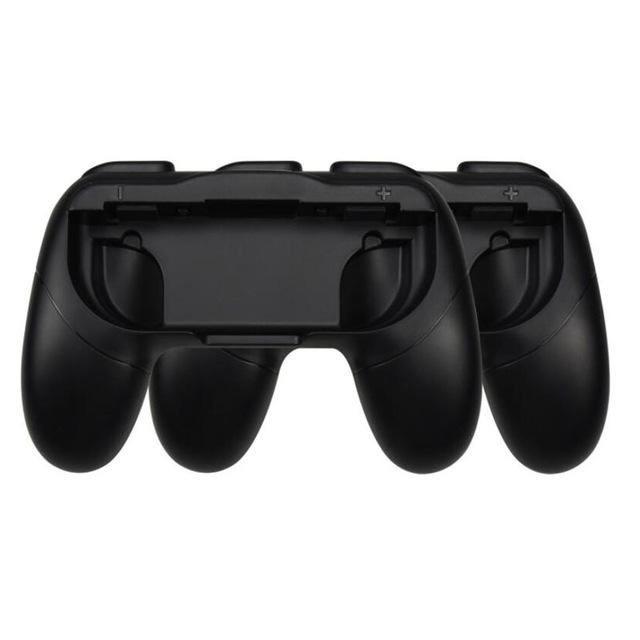 2pcs Plastic Anti-skid Handle Handgrip Brackets Protective Shell for Switch Joycon Controllers black