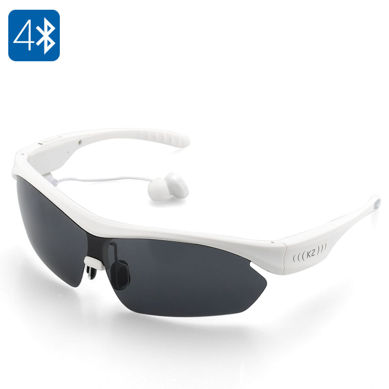 K2 Polarized Bluetooth Sunglasses (White)
