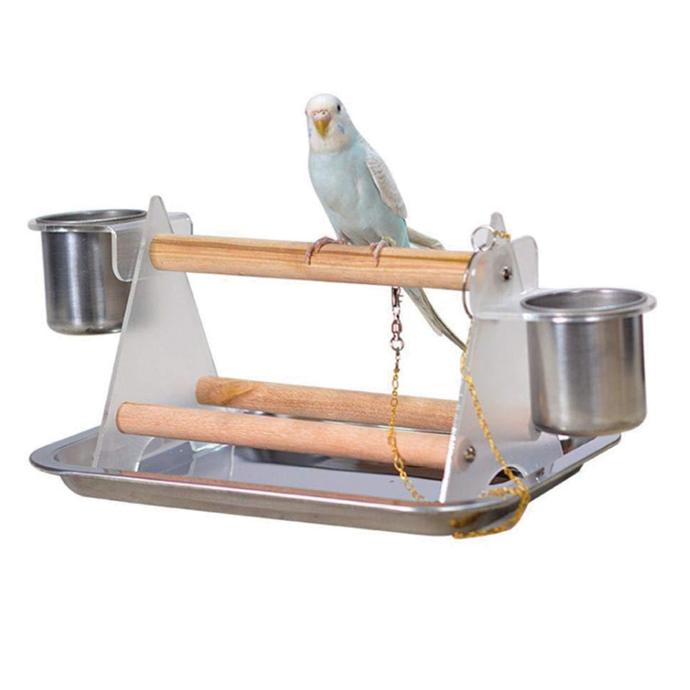 Pet Grinding Claws Toy Triangular Stand Racks for Small Medium Parrots Stand