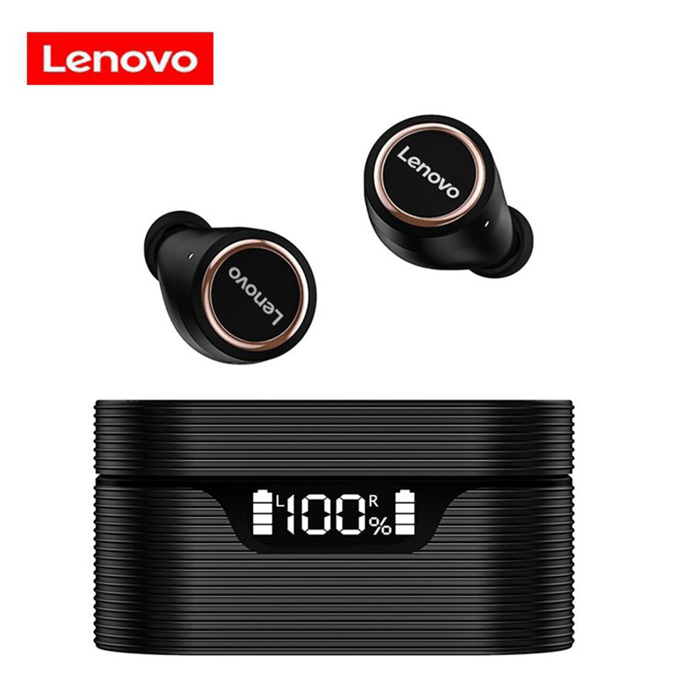 Original LENOVO Lp12 Bluetooth Wireless Touch Control Led Display Headphones Noise Reduction Waterproof Headsets With Mic Black