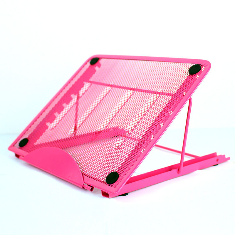 Multifunction Mesh Ventilated Adjustable Laptop Stand Pink