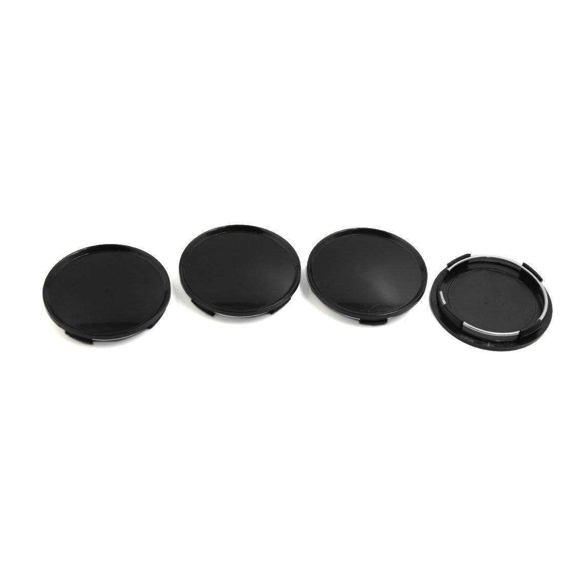 4pcs Black 63mm Diameter Wheel Center Hub Cap Cover Guard for Car Auto