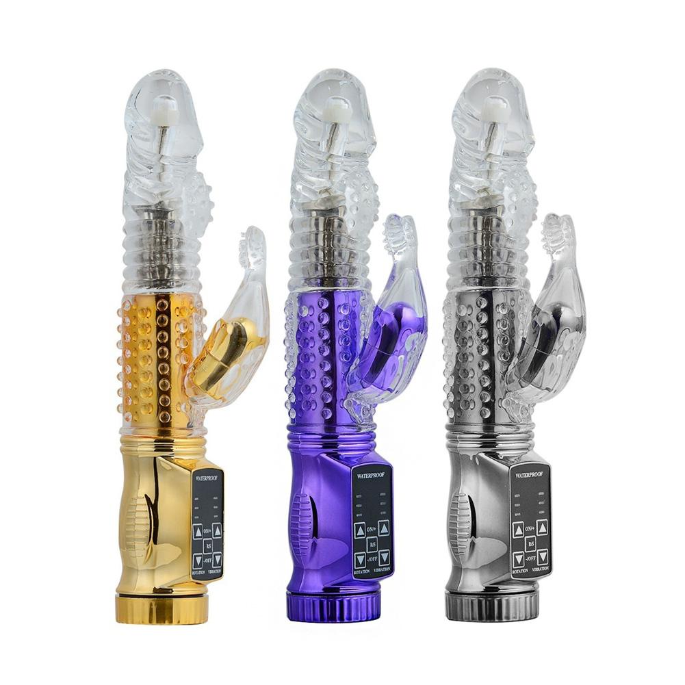 Women G-point Vibrator False Penis Vibration Massager Rod (Battery  Power) yellow
