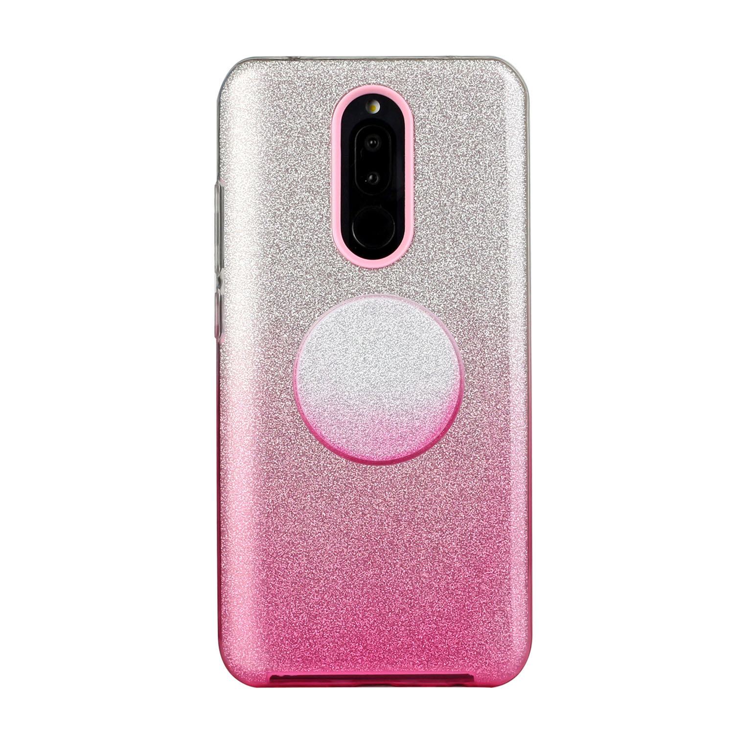 For OPPO F9/F9 Pro/A7X/F11 Pro/A8/A31 Phone Case Gradient Color Glitter Powder Phone Cover with Airbag Bracket Pink