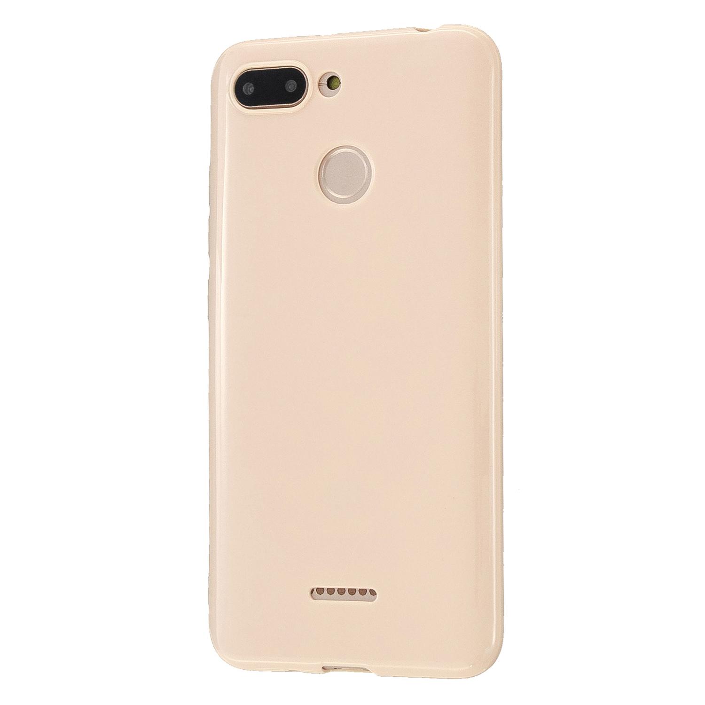 For Redmi 6/6A/6 Pro Cellphone Case Simple Profile Soft TPU Ultra Light Anti-Scratch Phone Cover Sakura pink