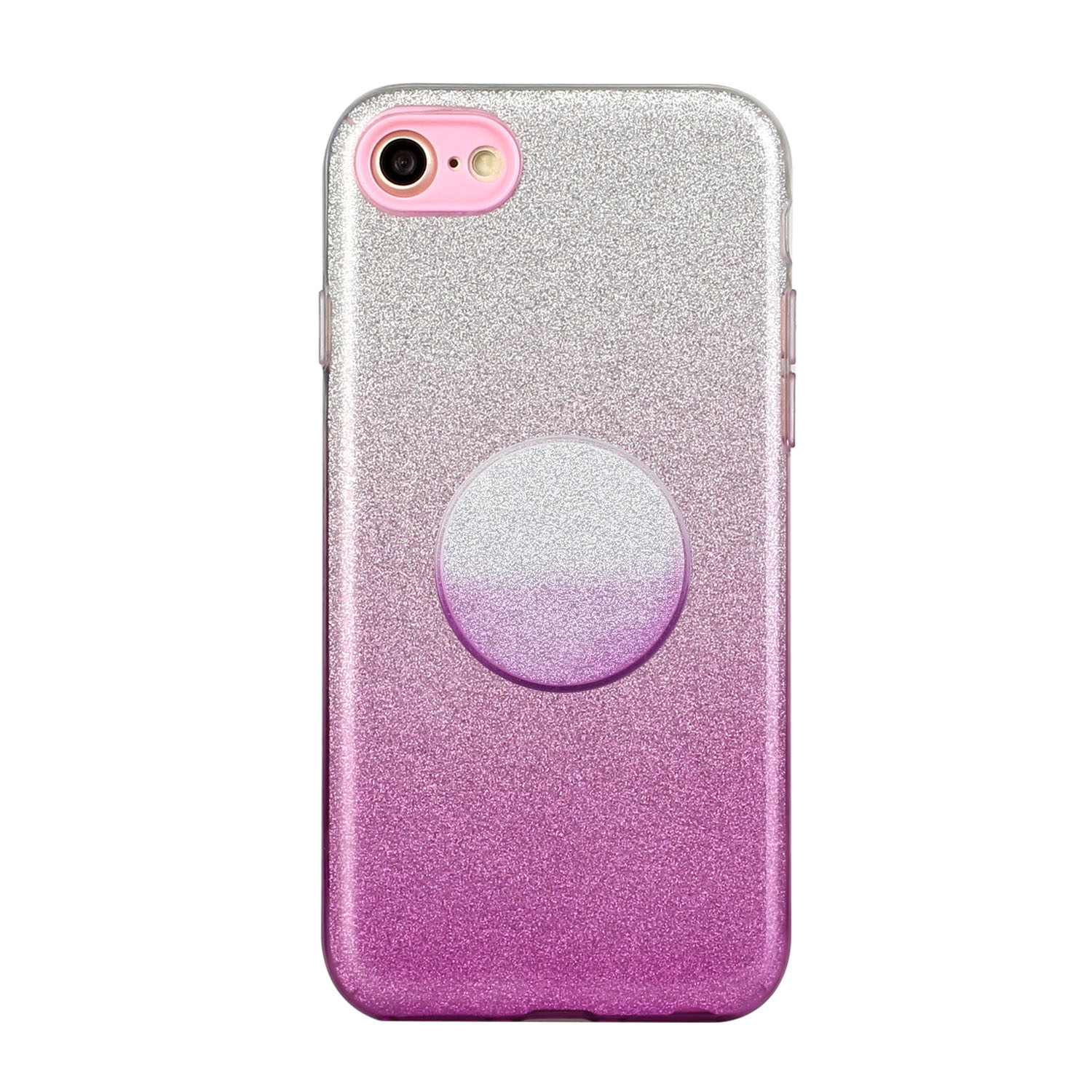 for HUAWEI Y5 2019/HONOR 8S/Y5/PSmart/honor 10 LITE Phone Case Gradient Color Glitter Powder Phone Cover with Airbag Bracket purple