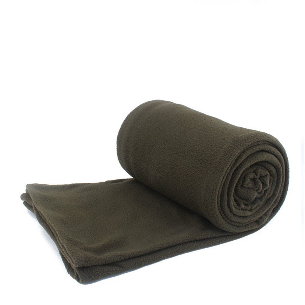 Portable Sleeping  Bag Outdoor Camping Tent Bed Travel Warm Sleeping Bag Thickened-Army Green