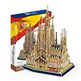 [EU Direct] LanLan Sagrada Family Church with Book, 194 Piece 3D Jigsaw Puzzle Made by 3D-Puzzle