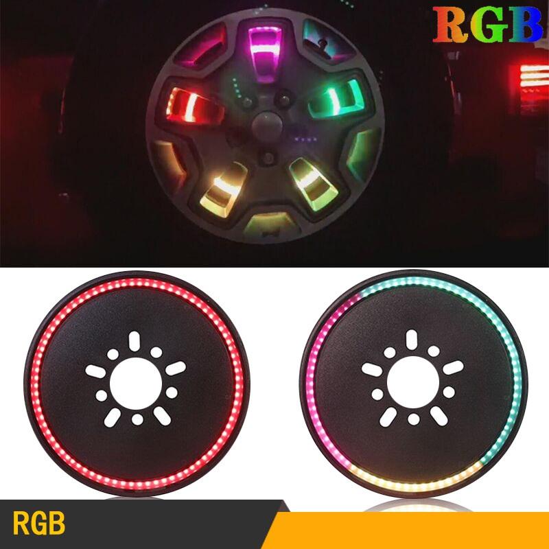 14-inch Spare Tire Rgb Led Brake Lights Third Wheel Lamp For Jeep Wrangler Jk/jl RGB
