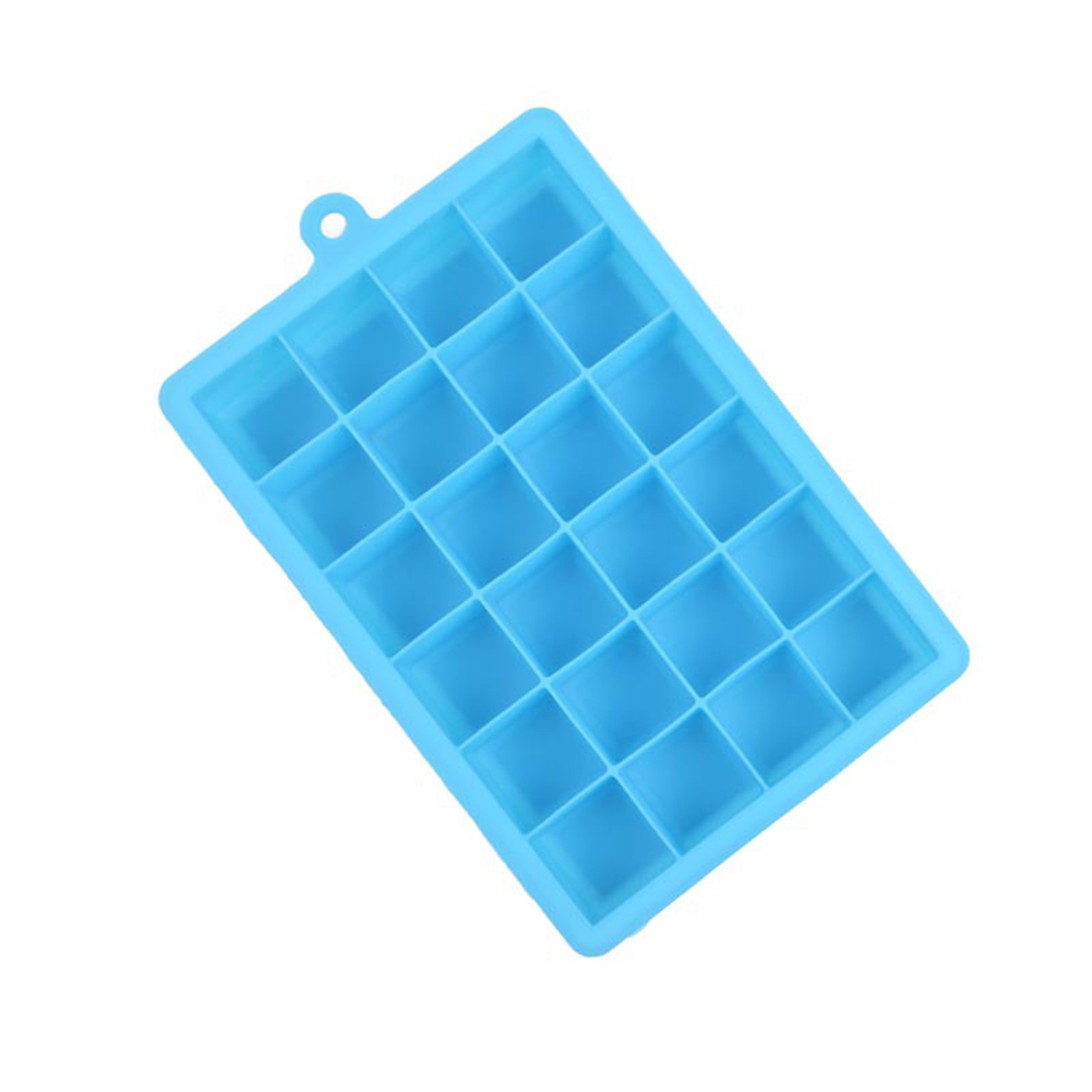 24 Grid Silicone Ice Cube Tray - Blue