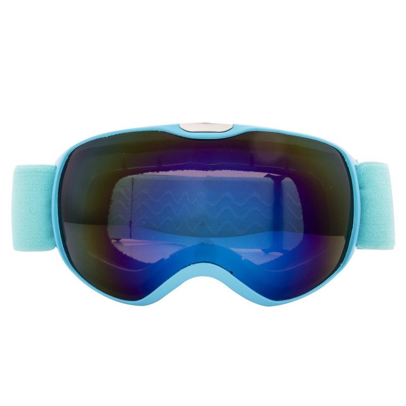 Children Ski Goggles Dual Layer Anti-fog Skiing Mask Glasses Snowboard Skating Windproof Sunglasses Skiing Goggles blue