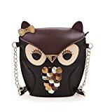 MissFox Handbag Crossbody Clutch Purse Shoulder Bag Cartoon Puppy Satchel Owl