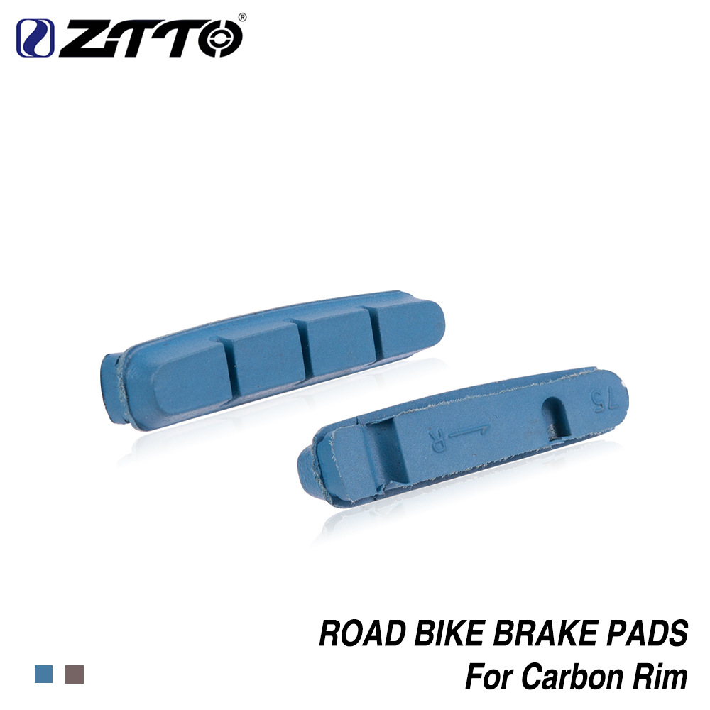 Bicycle Cork Brake Block Road Bike Brake Shoes Pads For Carbon Fiber Wheel Ring brown