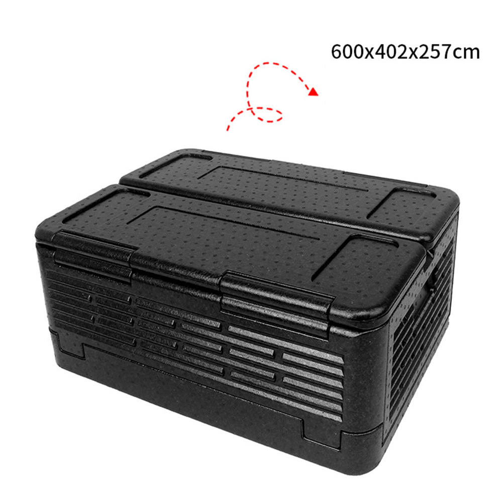 Portable Folding Incubator Outdoor Picnic Large Capacity Container Food Refrigerator black