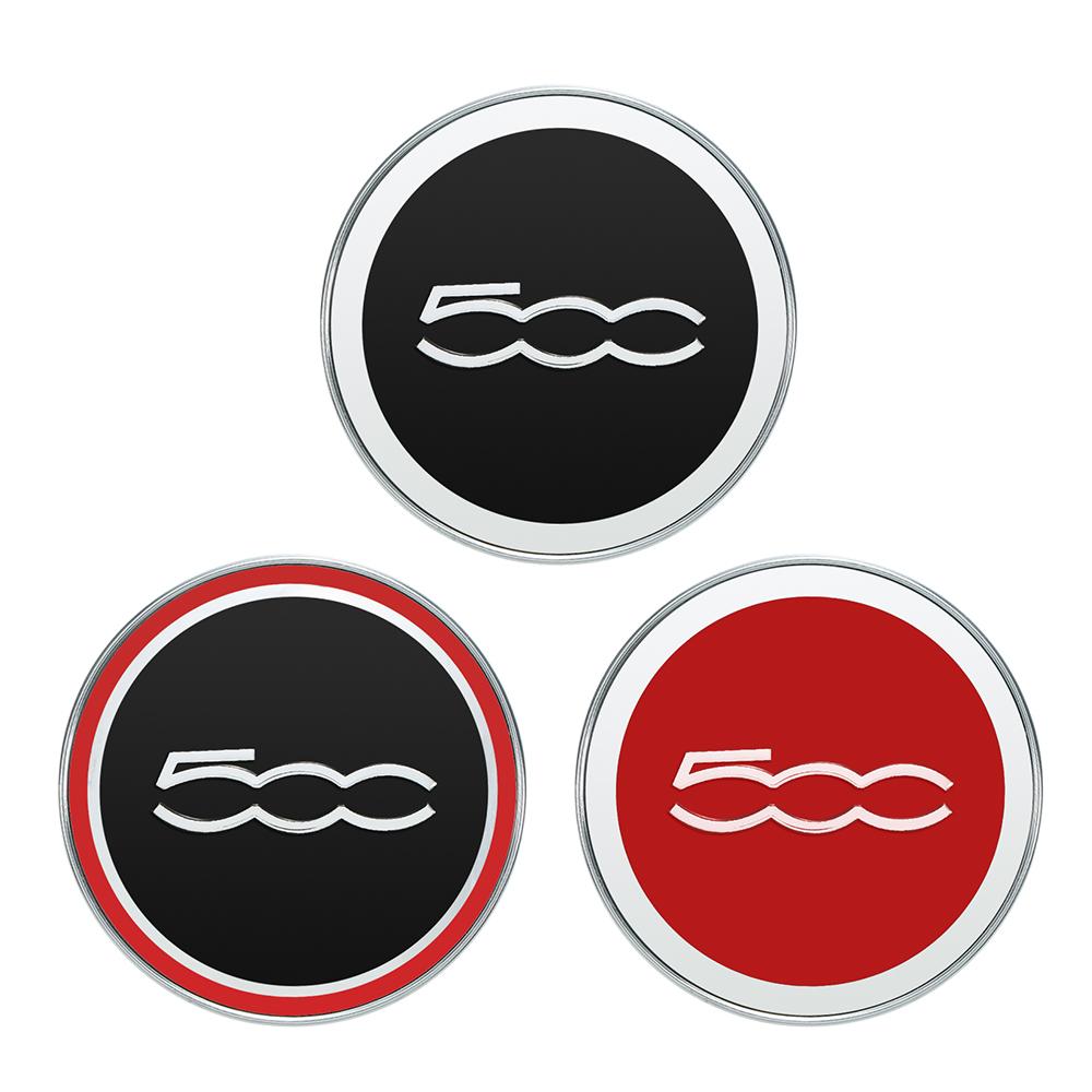 5cc 60mm Car Wheel Center Caps Hub Tyre Rim Hub Cap Cover for Fiat 500 Auto Accessories Red