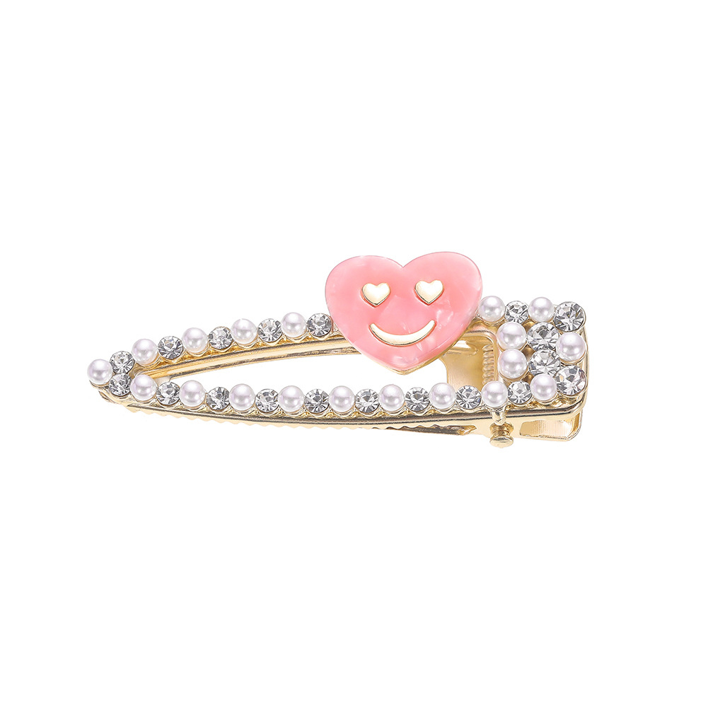 Women Fashion Sweet Heart-shaped Rabbit Shimmer Crystal Hairpin