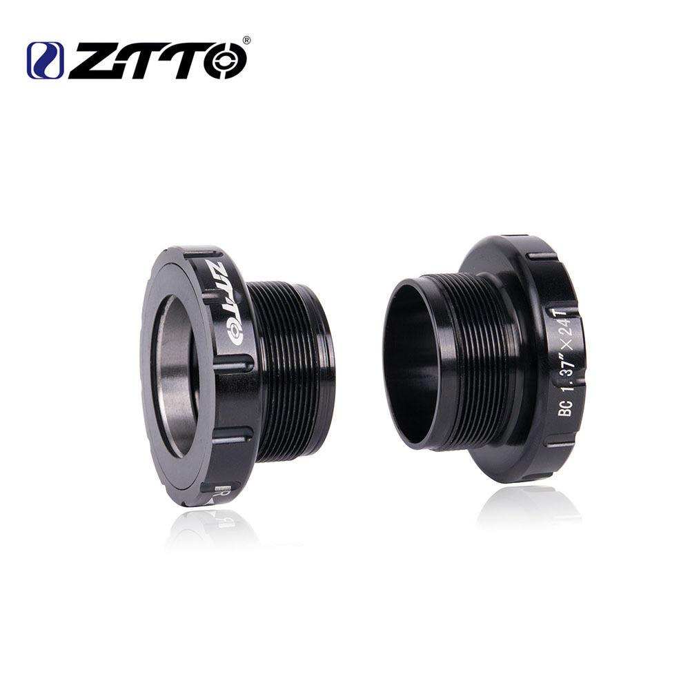 ZTTO BSA30 BB68 MTB Road Bike External Bearing Bottom Brackets 68/35MM to BB30/PF30/386 Crankset Axle black