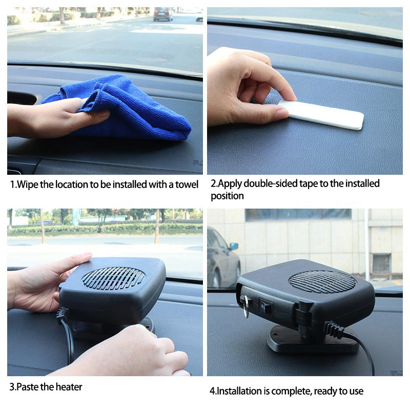12V 150W Car Heater Heating Fan 2 in 1 Dryer Windshield Demister Defroster for Vehicle Temperature Control Device 12V