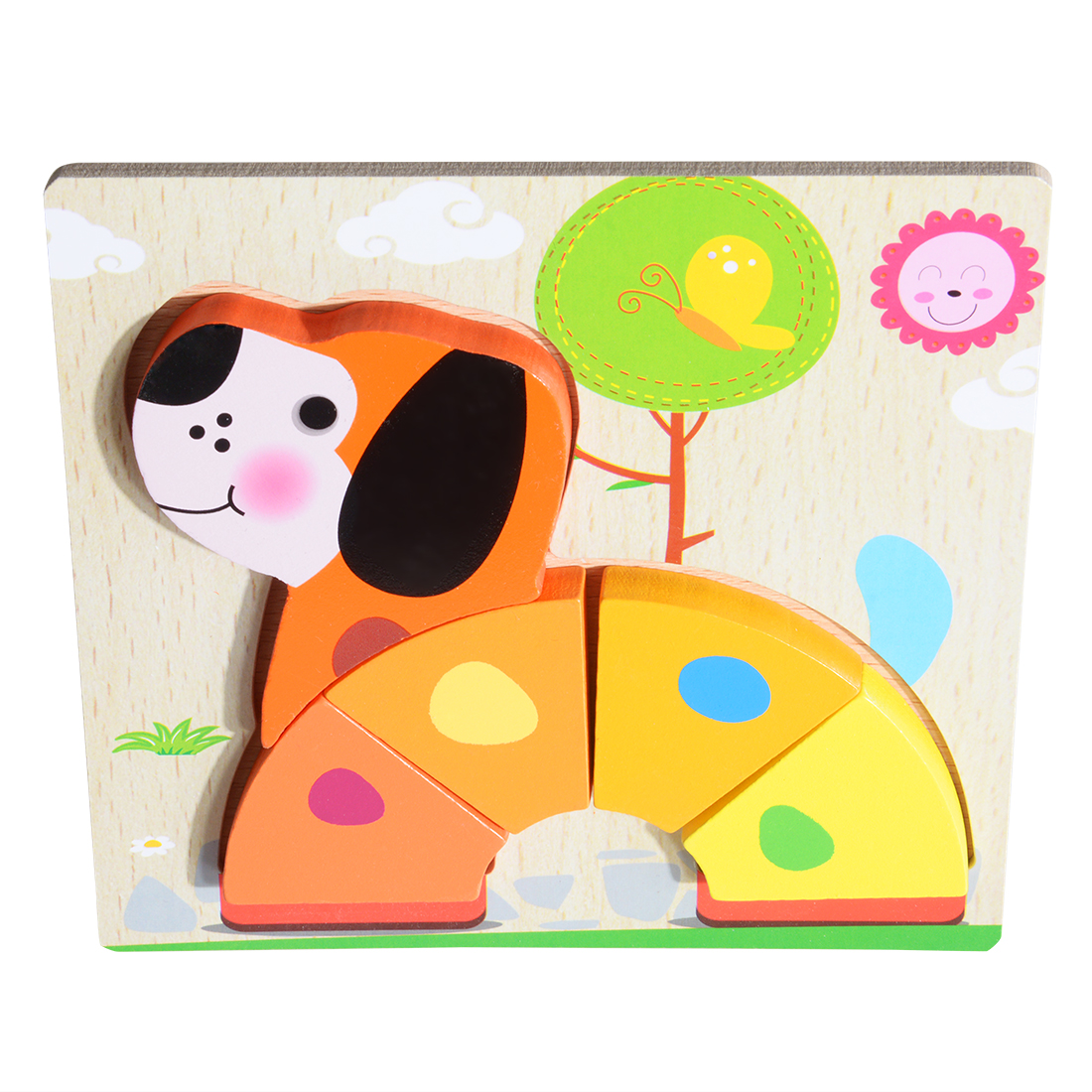 3d Wooden Puzzle  Learning Early  Educational Toys For  Children  Kids dog
