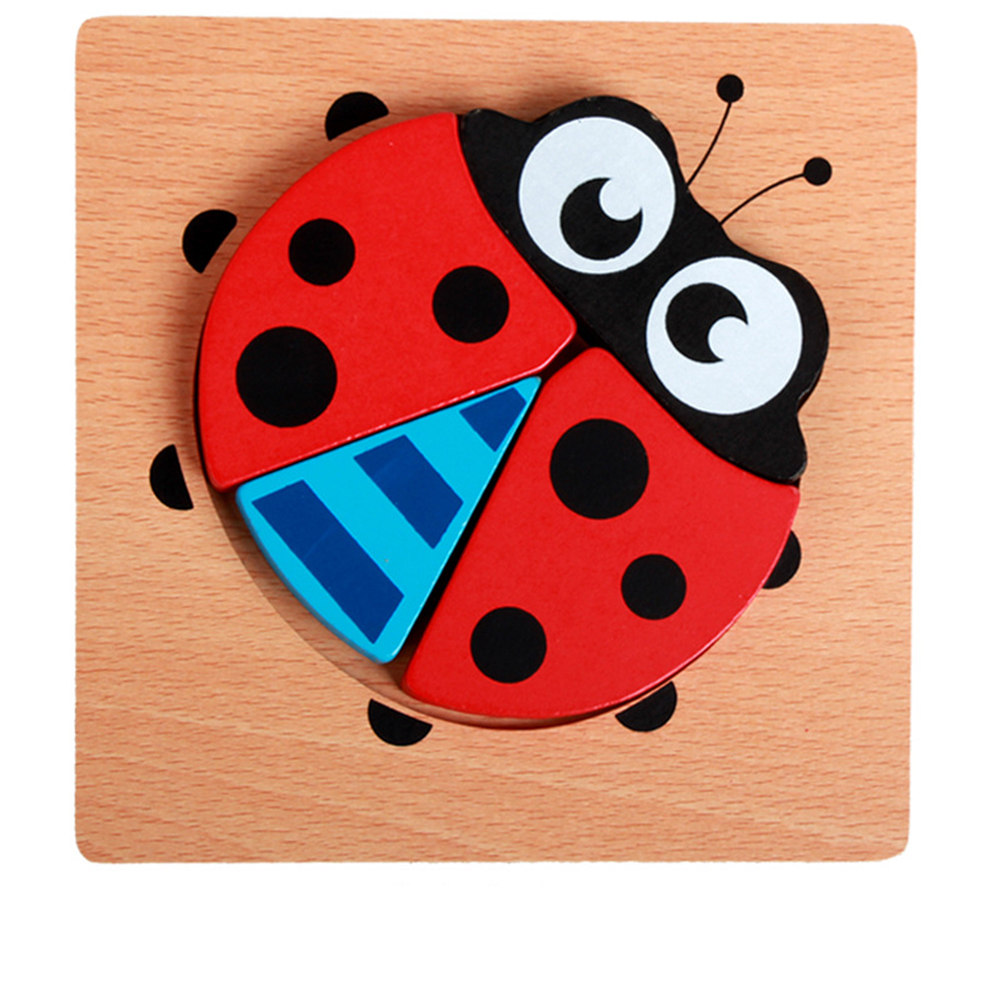 3d Wooden Puzzle  Learning Early  Educational Toys For  Children  Kids ladybug
