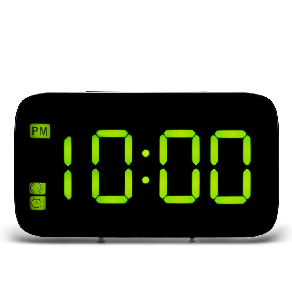 USB Charging Digital LED Display Alarm Clock with Voice Control  yellow