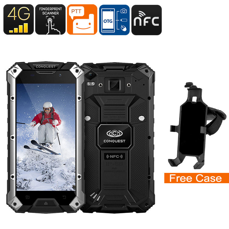 Conquest S6FP IP68 Smartphone (Silver/Black))