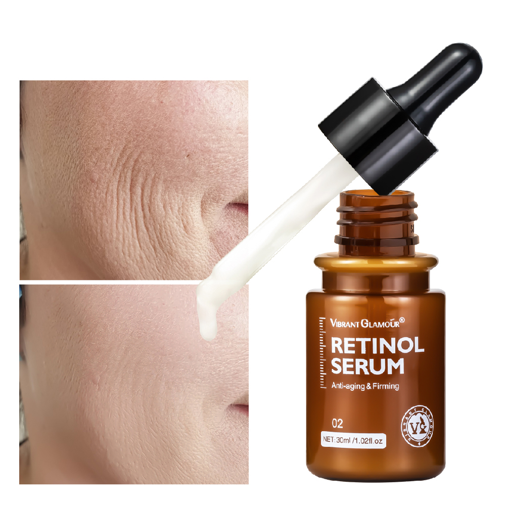 Retinol  Facial  Serum Anti-aging Remove Wrinkles Relieve Fine Lines Increase Elasticity Skin Care Serum 30ml