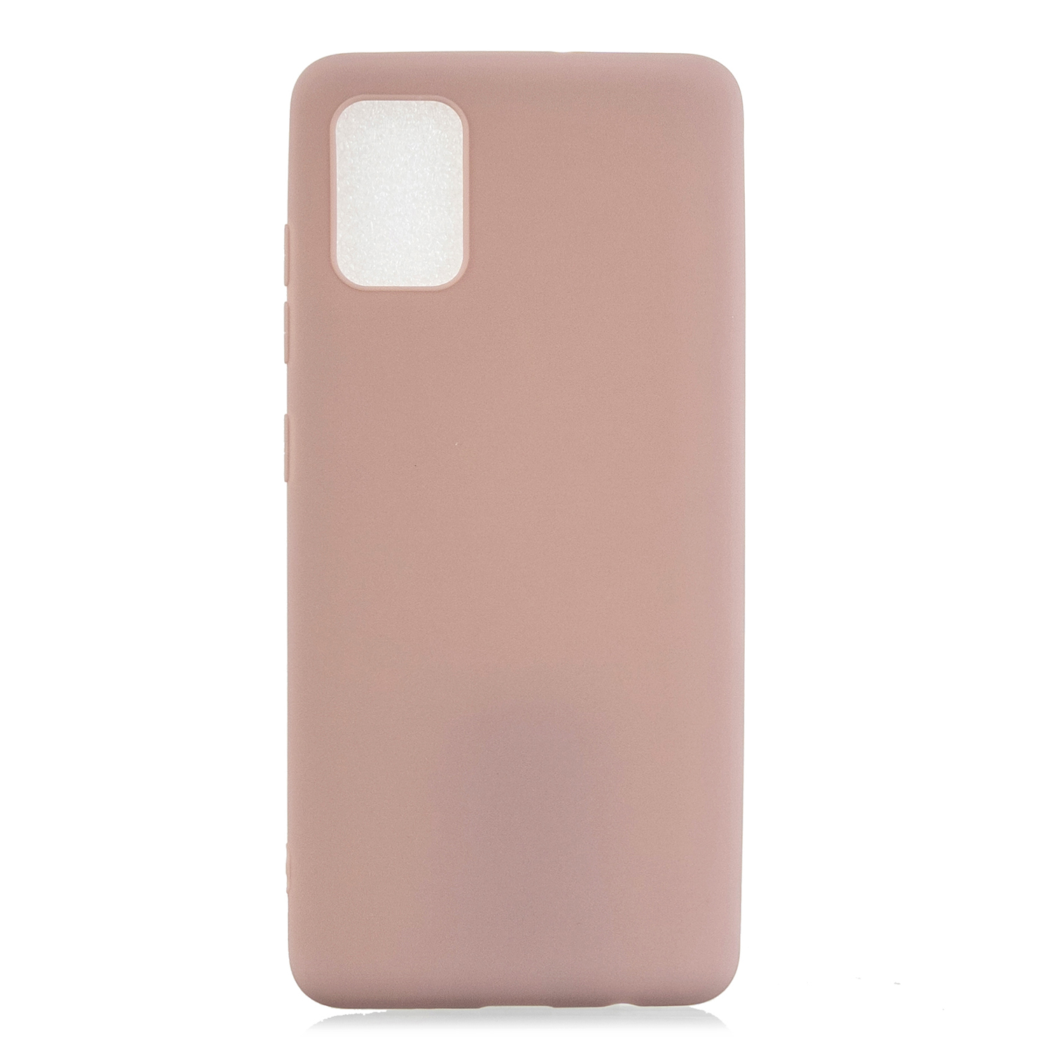 For Samsung A01/ A11/A21/A41/A51/A71/A81/A91 Mobile Phone Case Lovely Candy Color Matte TPU Anti-scratch Non-slip Protective Cover Back Case 11 lotus root pink