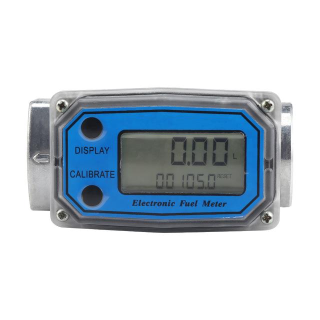 1 Inch Electric Flow Meter for Diesel Oil Methanol Water blue