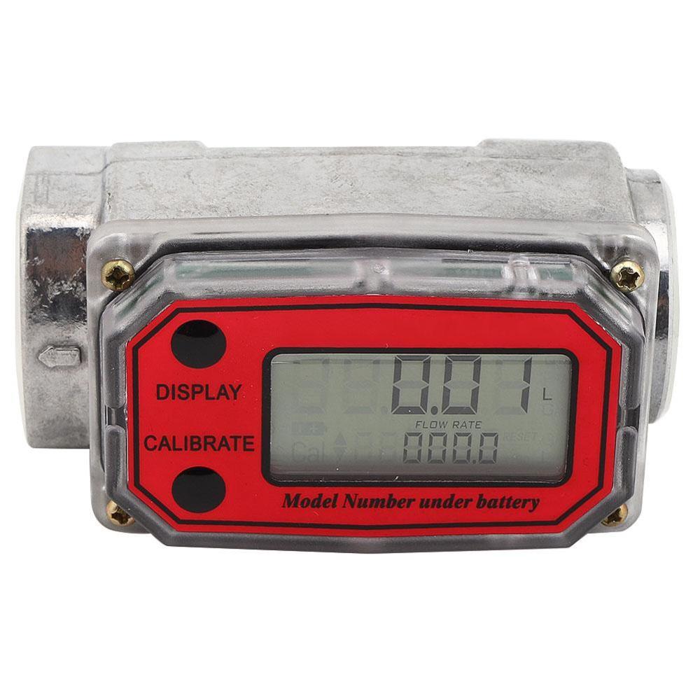 1 Inch Electric Flow Meter for Diesel Oil Methanol Water red
